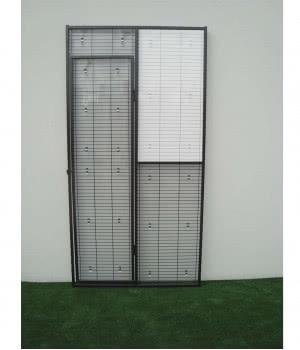 Rigid PVC panel on top right