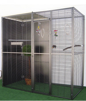 Garden parrot aviary 2m2...