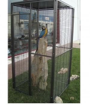 Garden aviary for parrots 1m2