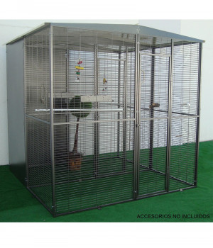 Garden aviary for parrots...