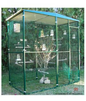 Garden aviary of 2 m2