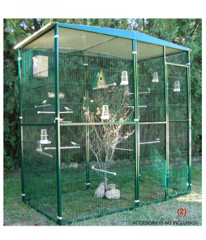 2 sqm garden aviary with...
