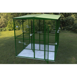 4 sqm garden aviary with...