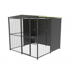 2x2m Kennel with 2 slope...
